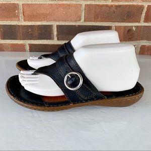 Like new Born leather thong flip flop sandals